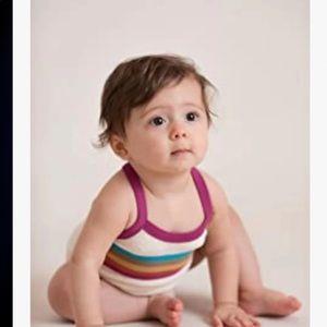 L'ovedbaby Baby Girls Organic Cotton Bodysuit